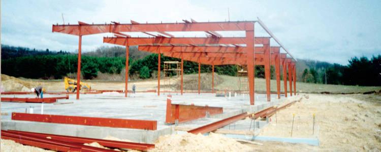 Construction du bâtiment de fabrication d'Eau Claire